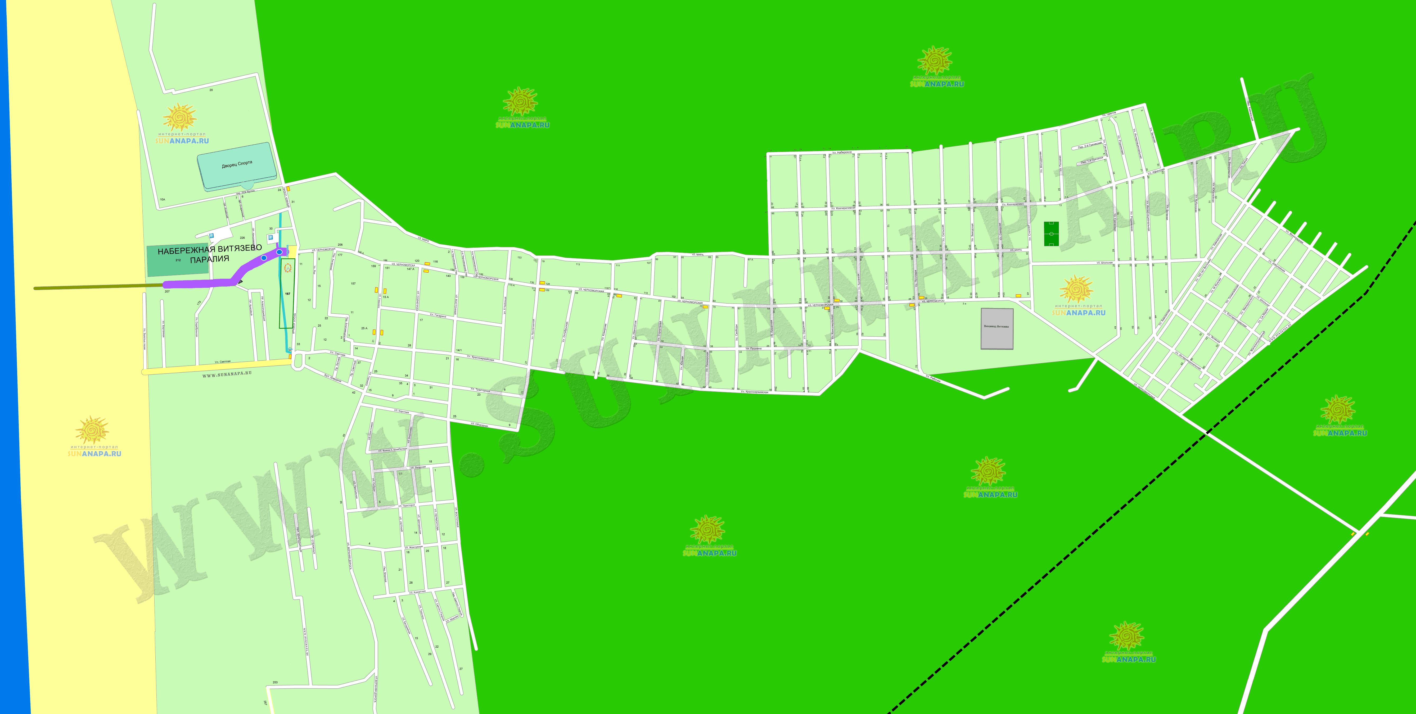 Витязево карта схема курорта